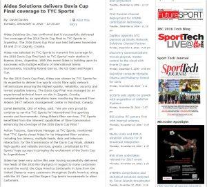 SVG PR_Aldea delivers 2016 Davis Cup Finals to TyC Sports_20161206