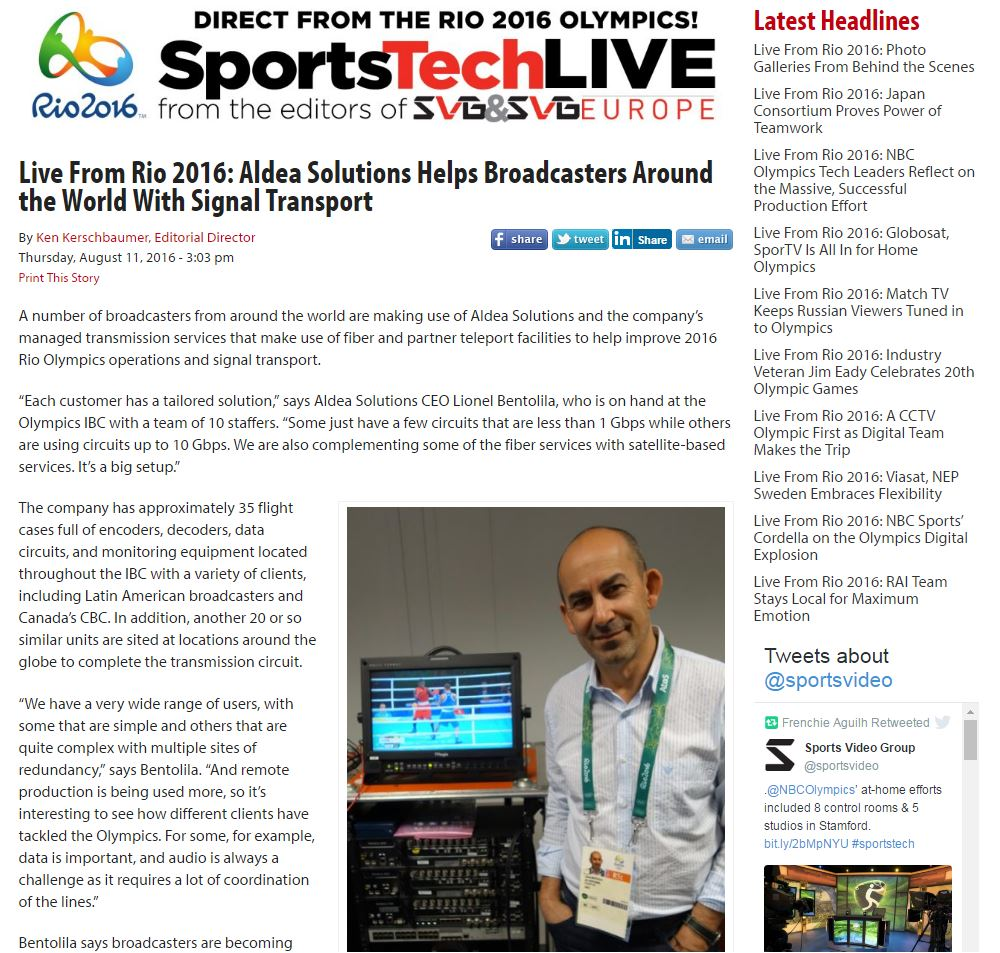 SVG Rio Olympics Interview